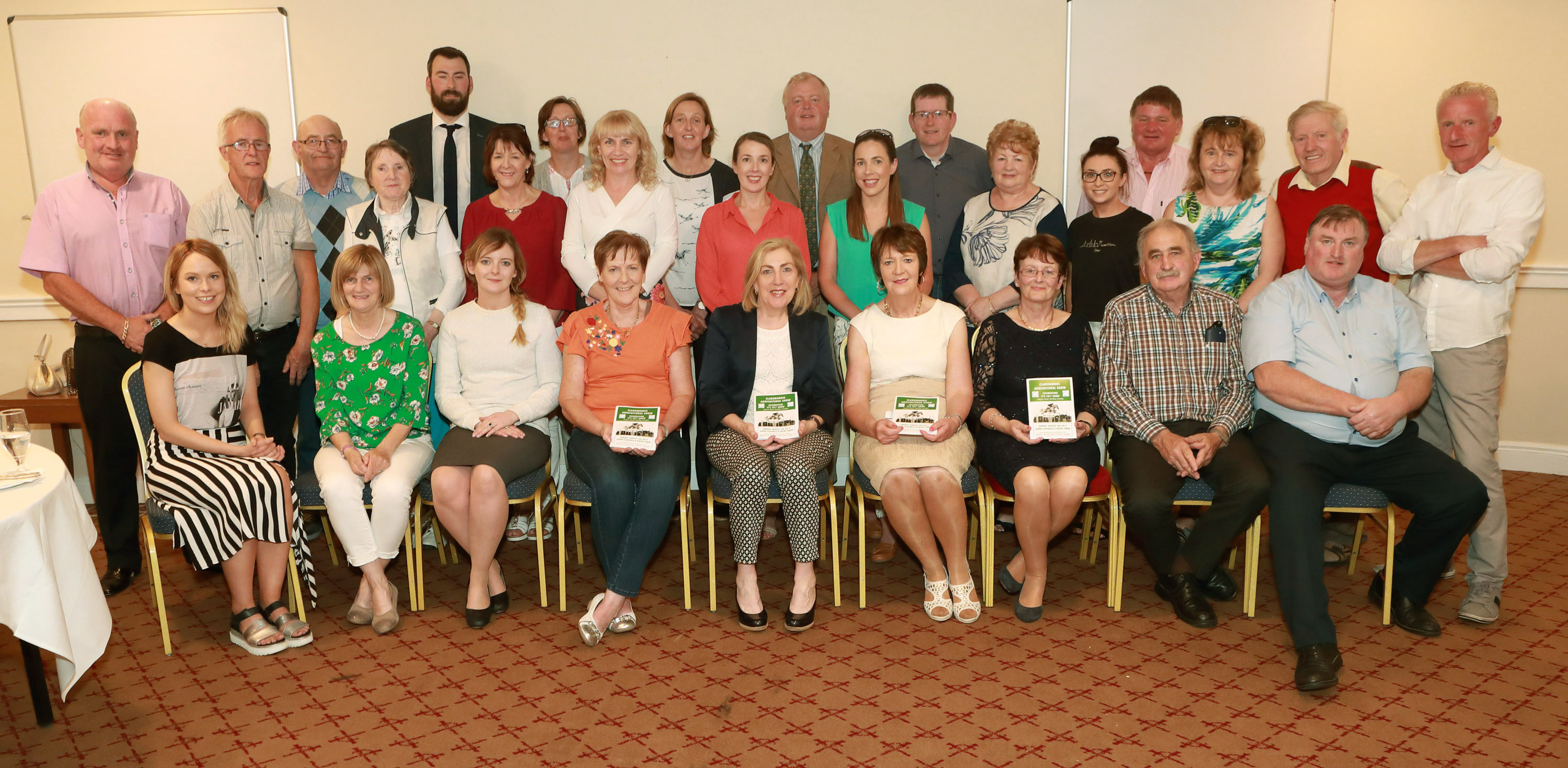 Committee, pictured with volunteers and sponsors at the launch of  Claremorris Agri Show 2019 at the press night in the McWilliam Park Hotel Photo © Michael Donnelly