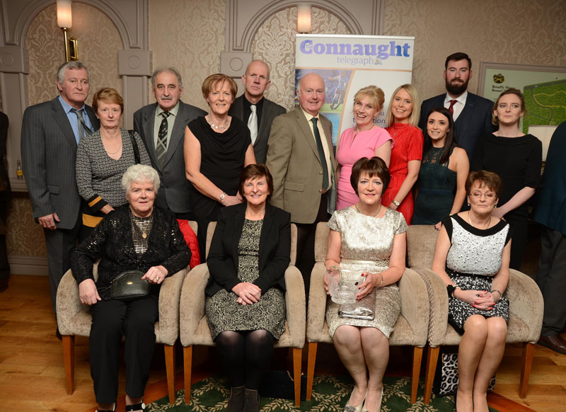 Members of the Claremorris Agriculture Show Committee, celebrating their 100th year with their award