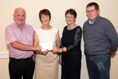 Luke Gibbons, Director BAM Ireland and Pauline Prendergast, Smyths Toys present sponsorship to Maureen Finnerty, Show secretary at the launch of the 2019 Claremorris Agricultural  Show in the McWilliam Park Hotel Claremorris, pictured on right is Tom Byrne Show Chairman.  Photo © Michael Donnelly