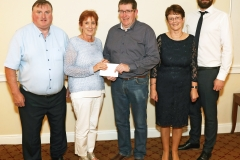 Anne Fitzmaurice Aurivo Co-op Claremorris presents sponsorship to Tom Byrne, Chairman Claremorris Agri Show 2019 at the press night in the McWilliam Park Hotel, Included from left are Cllr Tom Connolly,  Pauline Prendergast, Show PRO and Patrick Broderick, President Claremorris Chamber of Commerce. Photo © Michael Donnelly