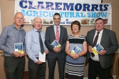 Pictured in the McWilliam Park  Hotel, Claremorris at the launch of the 99th Claremorris Agri Show and Food Village on Sunday 6th August, from left: Michael McGrath, Treasurer, Gerry Lynch, Show Chairman, Joe Healy, President,  Irish Farmers Association (IFA); Maureen Finnerty, secretary and Cllr Tom Connolly, Chairman Claremorris Welcome Home Committee. Closing date for entries is 30th July    Photo: © Michael Donnelly