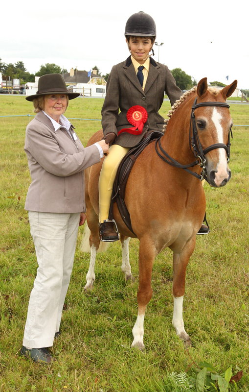Richard Grimes, Enniscrone, pictured with his 133 Open Show Hunter (Rider Under 15 Years) and  Pat Byrne, Ballymoreustace Co Kildare (Judge)  at 94th Claremorris Agricultural Show. Photo: © Michael Donnelly Photography