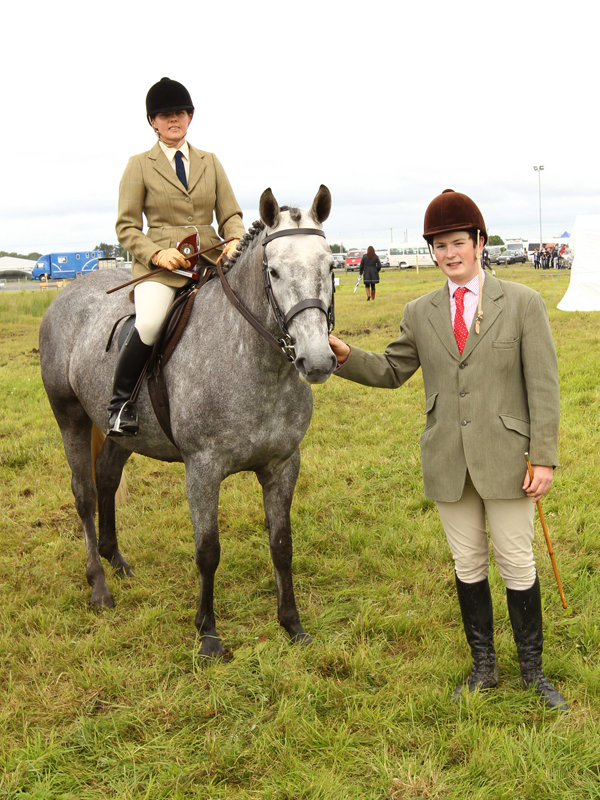 "Petra, Hewer,  Westport, pictured at the 94th Claremorris Agricultural Show with ""Best Ridden Hunter of Show"" and Peter Scott, Ballina (Judge). Photo: © Michael Donnelly Photography"