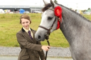 Rachel Byrne, Knocknagur Tuam pictured with her Connemara Yearling Filly, winner of the Fr Tuffy Cup at the 94th Claremoris Agricultural Show. Photo: © Michael Donnelly Photography