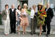 "Pictured at the presentation to the ""Best Dressed Lady"" at Claremorris Agricultural Show, from left: Maureen Finnerty, Show Secretary; Martin Dwyer, committee; Adelle Heskin, ""Miss Claremorris""; Angela Duggan, Runner Up Best Dressed Lady; Caitriona Egan, representing Robert Blacoe Jewellers, sponsors; Doreen Higgins Ballindine (Best Dressed Lady) and Adrian Tolan, ""Mr Claremorris"". Photo: © Michael Donnelly."