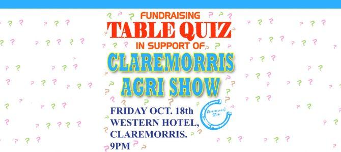 Annual fund raising Table Quiz